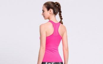 Розовая майка женская для фитнеса фото Розовая майка женская для фитнеса  спина 9ca6d7e9ec4