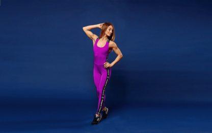 Фиолетовый комбинезон Fitness Frullato