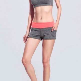 Серые женские шорты Slim Gray-Orange