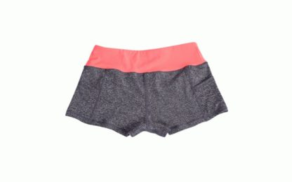 Серые женские шорты Slim Gray-Orange фото