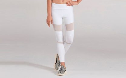 Белые легинсы для йоги 1FP1014WHT спереди