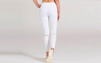 Белые легинсы для йоги 1FP1014WHT фото сзади