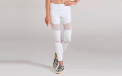 Белые легинсы для йоги 1FP1014WHT фото спереди