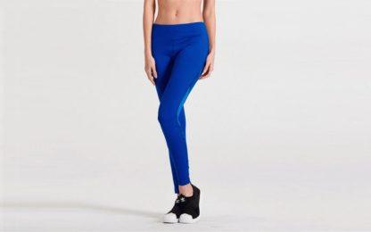 Синие легинсы для танцев 1FP1074BLU спереди